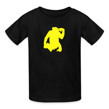 Black monkey Kids Shirts