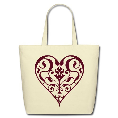 Heart Tote (Large) - Eco-Friendly Cotton Tote
