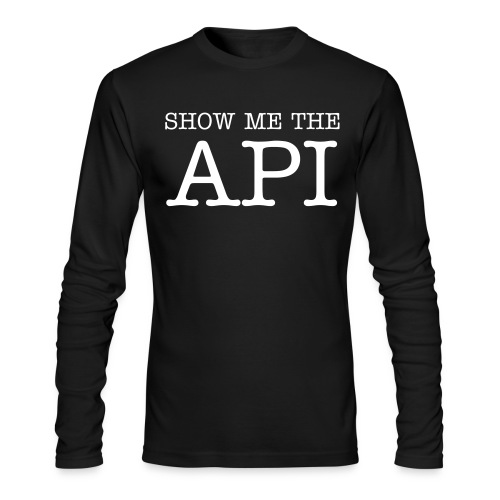 Real Websites Have APIs - Men's Long Sleeve T-Shirt by Next Level