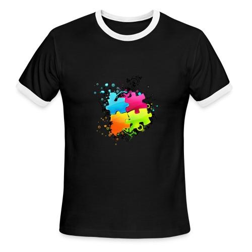 Connect The Puzzle - Men's Ringer T-Shirt