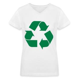 RECYLEE. - Women's V-Neck T-Shirt
