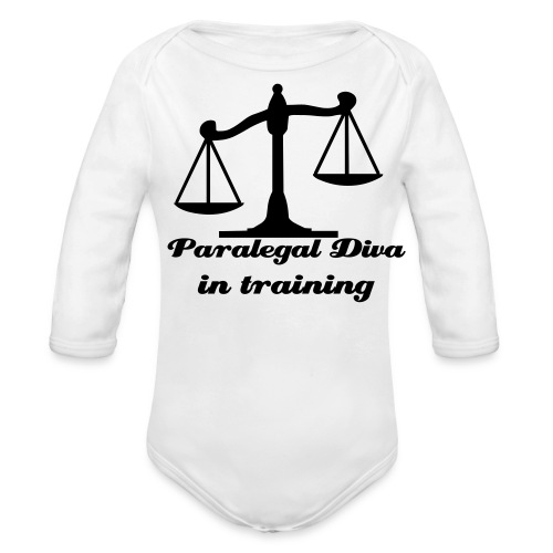 Paralegal Diva Messenger Bag - Organic Long Sleeve Baby Bodysuit