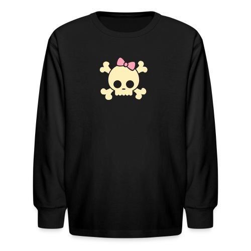Skull Long Sleeve - Kids' Long Sleeve T-Shirt