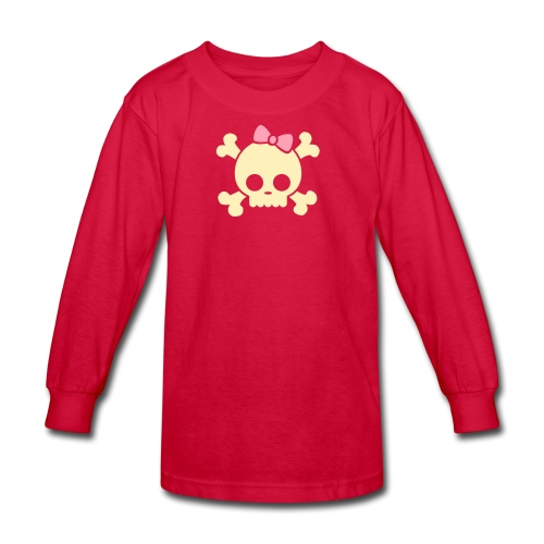 Skull Long Sleeve - Kids' Long Sleeve T-Shirt