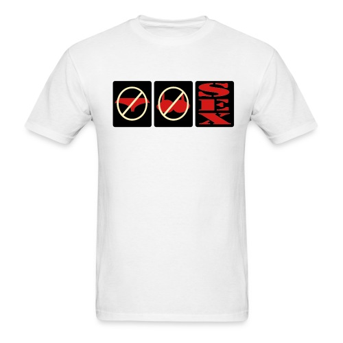 No Panties, No bra = Sex Mens Naughty Tee - Men's T-Shirt