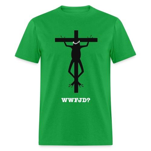 WWFJD Lightweight T - Men's T-Shirt