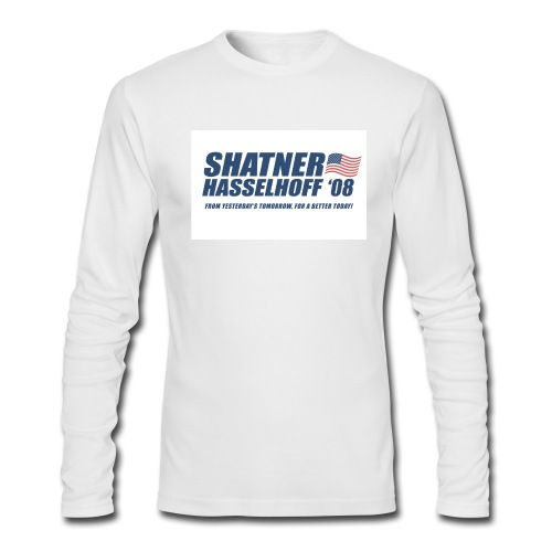 Shatner Hasselhoff '08 Long Sleeve T - Men's Long Sleeve T-Shirt by Next Level