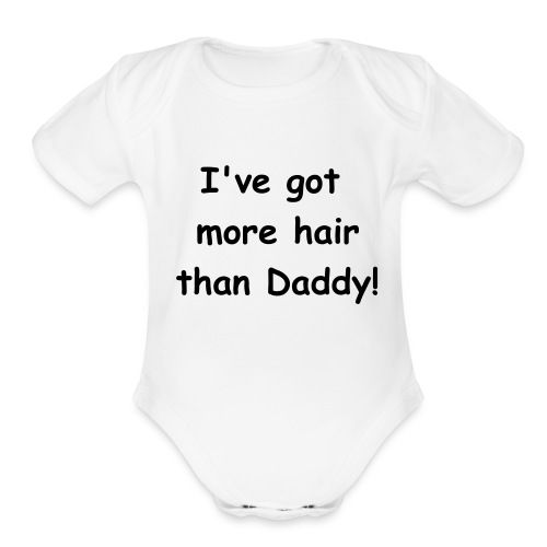 daddy - Organic Short Sleeve Baby Bodysuit