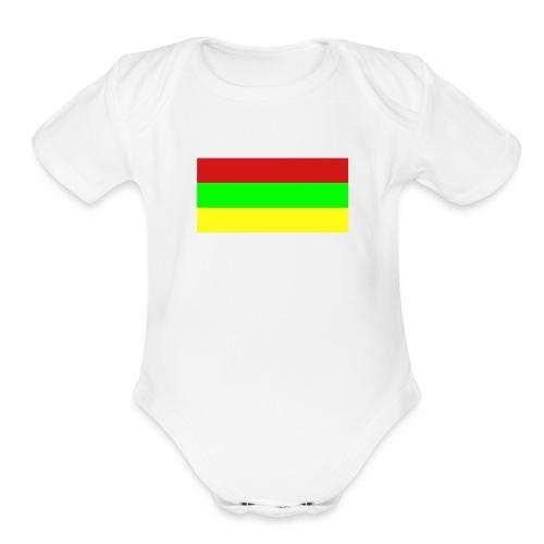 Rasta One size - Organic Short Sleeve Baby Bodysuit
