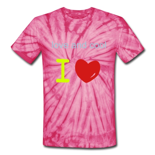 love and cool - Unisex Tie Dye T-Shirt