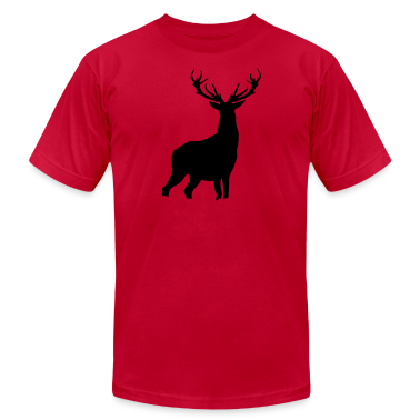 Red Deer with antlers T-Shirts (Short sleeve)