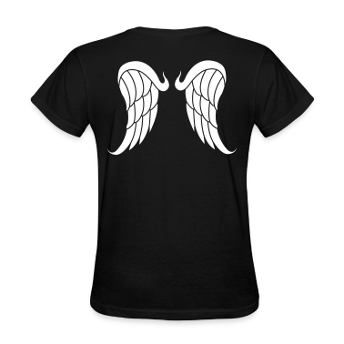 Black Angel wings Women's Tees (Short sleeve)