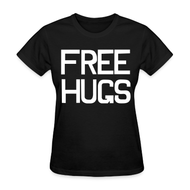 Black Free hugs Women's Tees (Short sleeve)