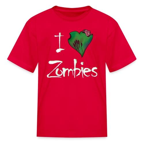 I Love Zombies Childrens Shirt - Kids' T-Shirt