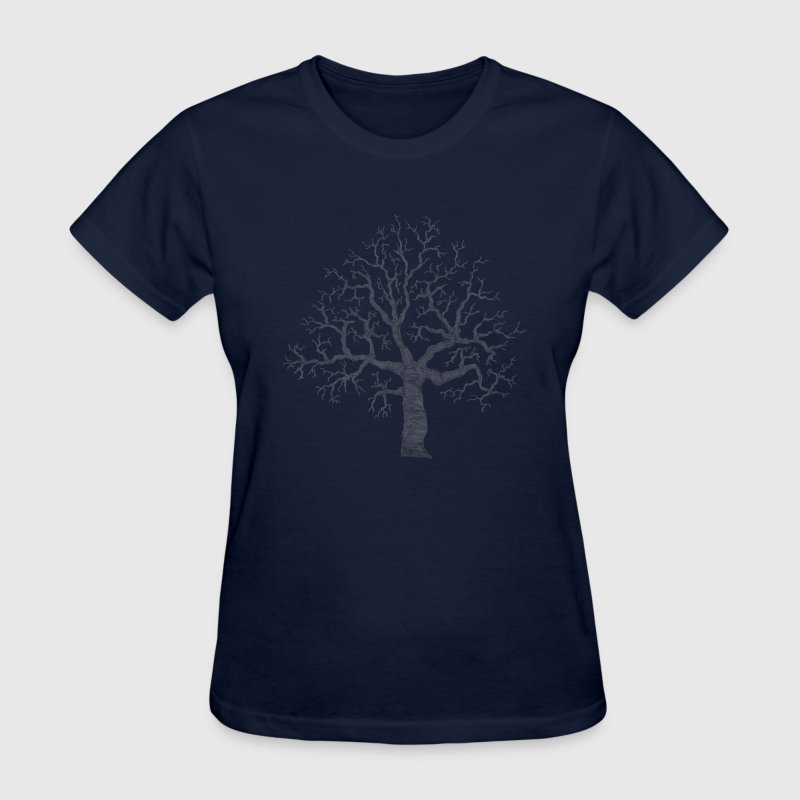 Navy Roots Tree Design Transparent Women's Tees (Short sleeve) - Women's T-Shirt