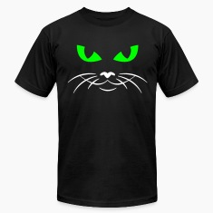Black cat face T-Shirts (Short sleeve)