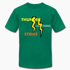 Kelly green two two colored lightning bolts T-Shirts