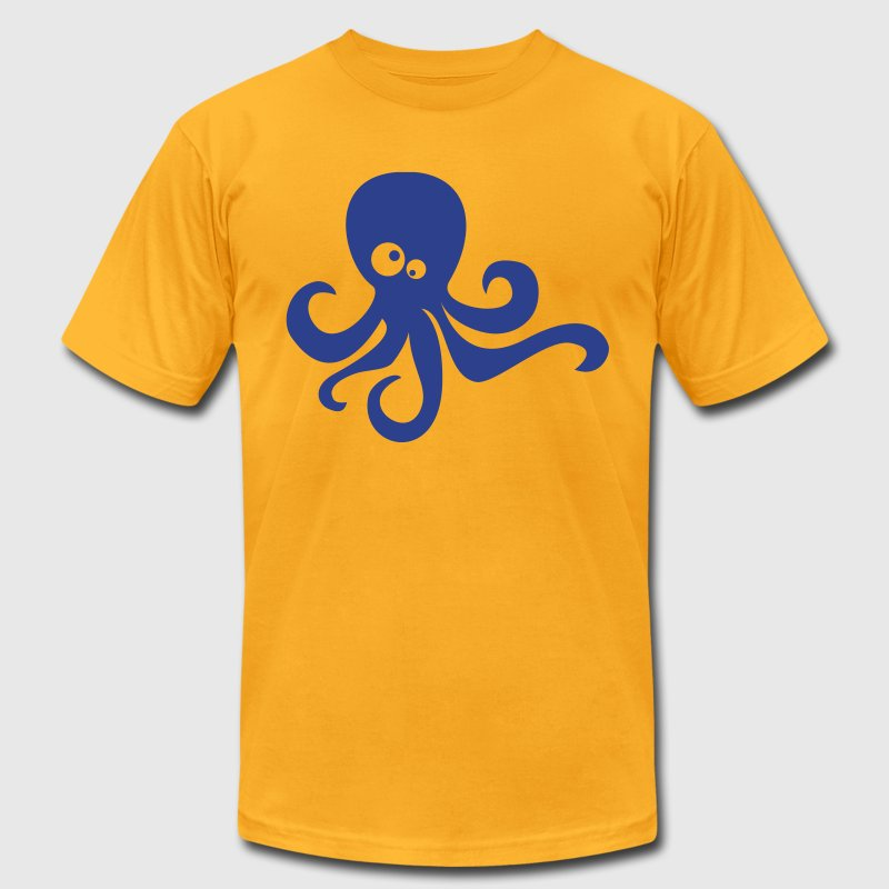 Gold octopus T-Shirts - Men's T-Shirt by American Apparel