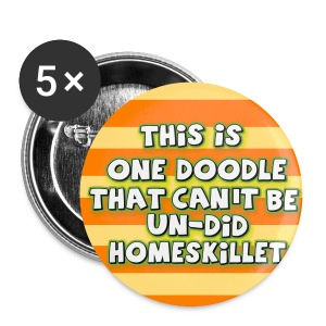 THIS IS ONE DOODLE... JUNO COSTUME 5 BUTTONS PACK - Large Buttons