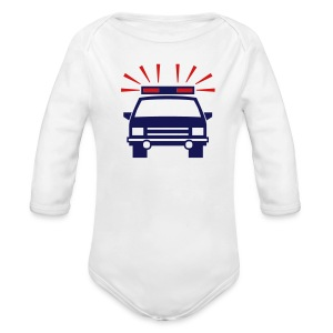 Police Car White Toddler Long Sleeved One size - Long Sleeve Baby Bodysuit