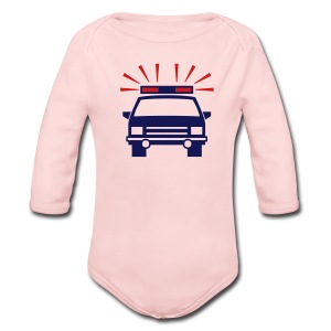 Police Car Pink Toddler Long Sleeved One size - Long Sleeve Baby Bodysuit
