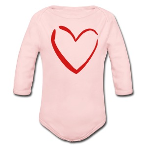 Red Heart Love Pink Toddler Long Sleeved One size - Long Sleeve Baby Bodysuit