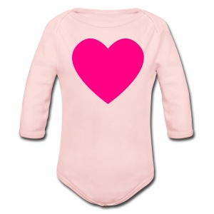 Pink Heart Love Pink Toddler Long Sleeved One size - Long Sleeve Baby Bodysuit