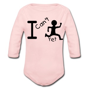 I Cant Run... Yet Blue Toddler Long Sleeved One size - Long Sleeve Baby Bodysuit