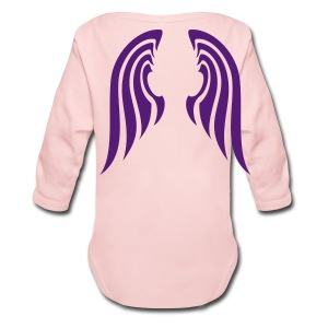 Angel Wings Back of Pink Toddler Long Sleeved One size - Long Sleeve Baby Bodysuit