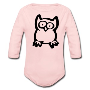 Owl On Toddler Long Sleeved One size - Long Sleeve Baby Bodysuit