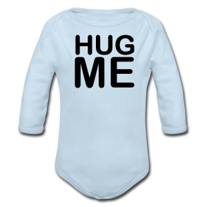 Hug Me Blue Long Sleeved One size - Long Sleeve Baby Bodysuit