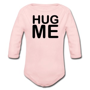 Hug Me Pink Long Sleeved One size - Long Sleeve Baby Bodysuit