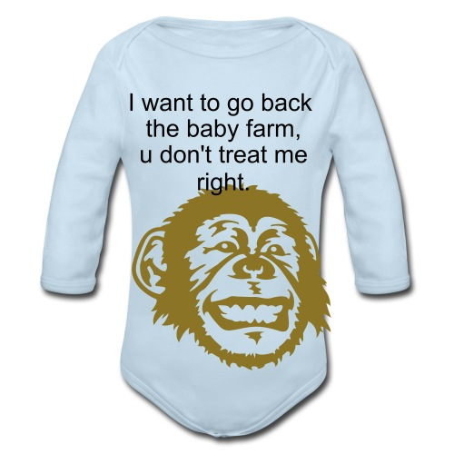 one sizes unsies - Organic Long Sleeve Baby Bodysuit