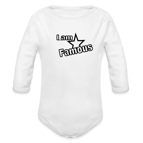 famous - Organic Long Sleeve Baby Bodysuit