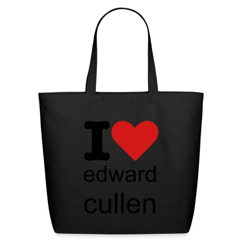 i heart edward cullen tote - Eco-Friendly Cotton Tote