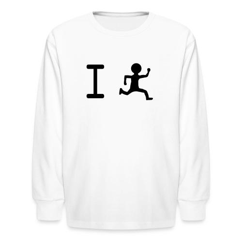 I Run Kids Long Sleeved Tee - Kids' Long Sleeve T-Shirt