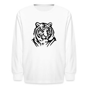 Tiger On Kids Long Sleeved Tee - Kids' Long Sleeve T-Shirt