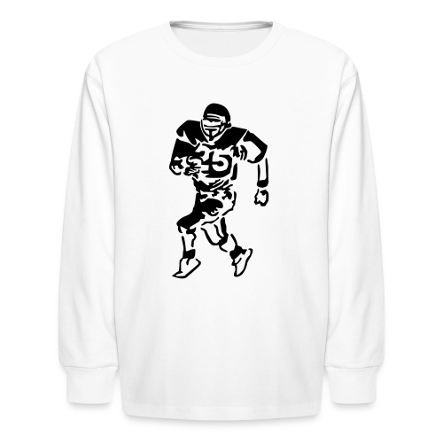 Football Player Kids Long Sleeved Tee - Kids' Long Sleeve T-Shirt