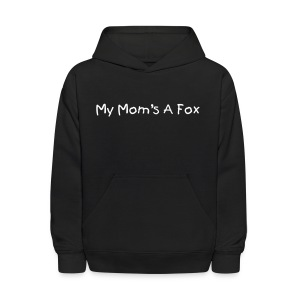 My Mom's a Fox Kid's Black Hoody - Kids' Hoodie