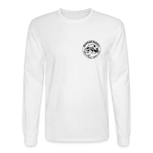 Blk on white LS - Men's Long Sleeve T-Shirt