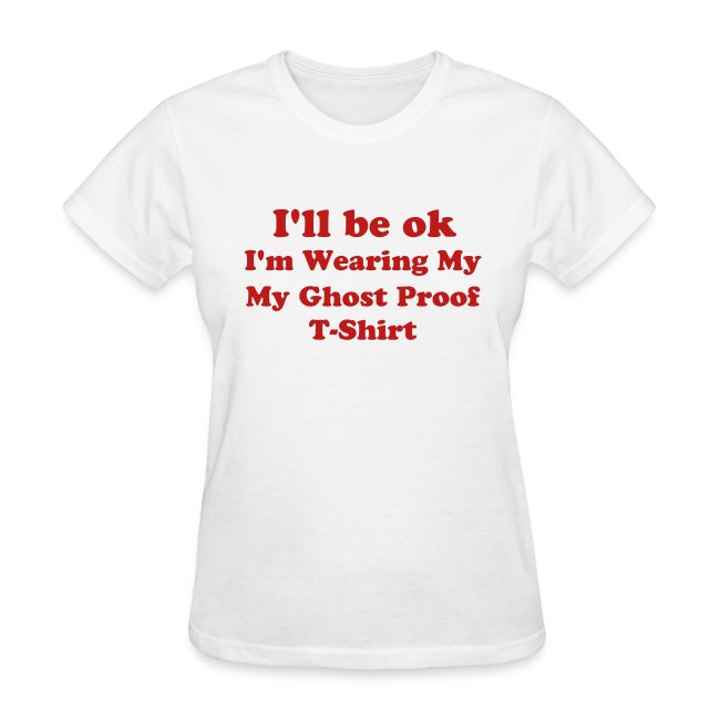 Women's Lightweight Tee (I'll Be ok...) -  White w/Red Sparkle Lettering