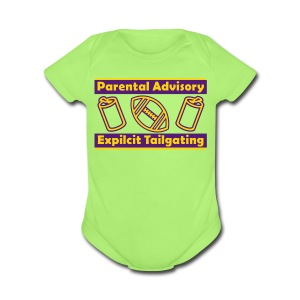 Parental Advisory LSU Explicit Tailgating - Short Sleeve Baby Bodysuit