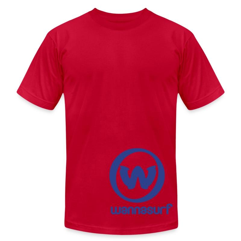 spreadshirtstickerwannasurffinal - Men's Fine Jersey T-Shirt