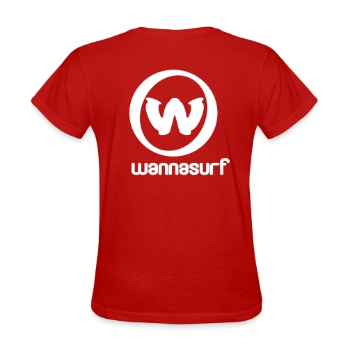 spreadshirtstickerwannasurffinal - Women's T-Shirt