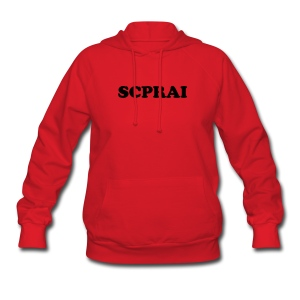 Womens Red Hooded Sweatshirt - Women's Hoodie