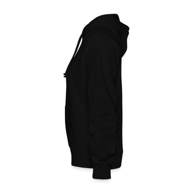 Womens Black Hooded Sweatshirt