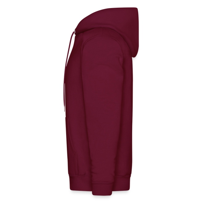 Mens Hooded Sweatshirt - Burgundy