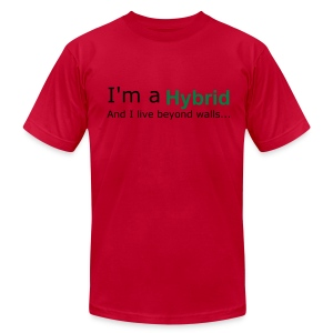 I'm a Hybrid...And I live beyond walls... - Men's Fine Jersey T-Shirt