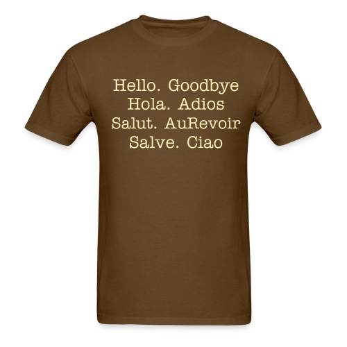 Hello. Goodbye - Men's T-Shirt