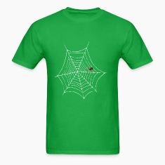 spider web men's lightwieght cotton t-shirt